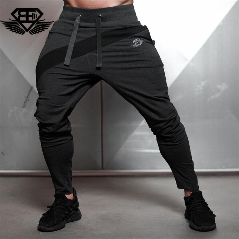 2018 Brand New Gold Medal Fitness Casual Elastic Pants Stretch Cotton Mens Pants Gyms Body Engineers Jogger Bodybuilding Pants