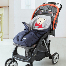 New Arrival Baby Stroller Sleeping Bags Winter Warm Newborn Envelope Fur Baby Stroller Sleepsacks Pram Footmuff Bed Swaddle Wrap