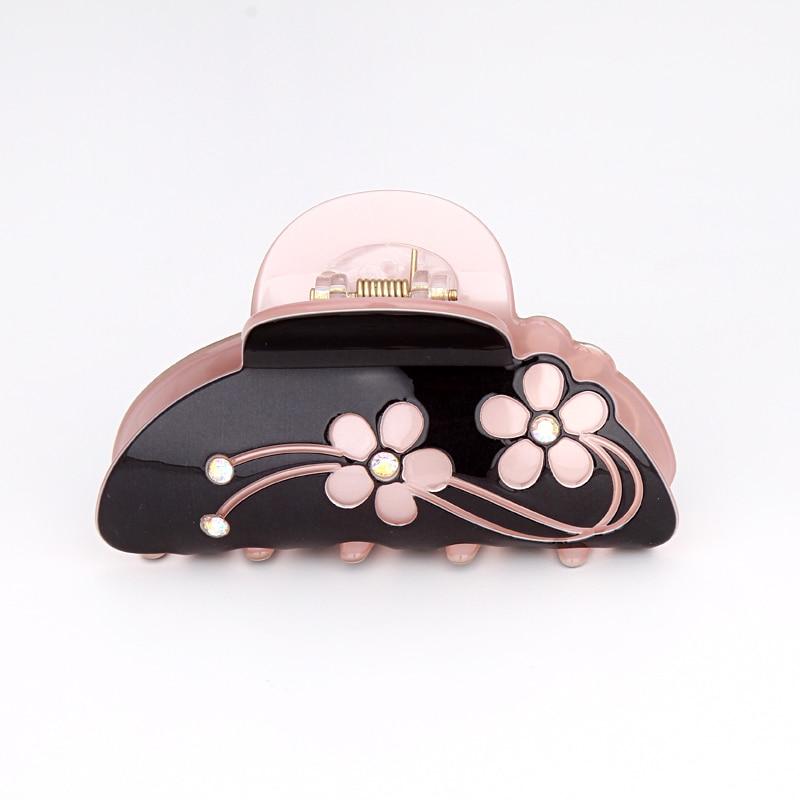 Hot Sale Koreaanse Crystal acryl haarspeldjes voor vrouwen Hoogwaardige 4 kleuren Floral haaraccessoires voor meisjes haar klauwen voor Girl