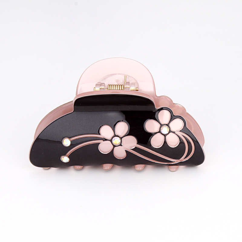 Venta caliente Coreana Cristal Acrílico Clips para el Cabello para Mujeres de Alta Calidad 4 Colores Accesorios para el Cabello Floral para Niñas Garras de Pelo para niña