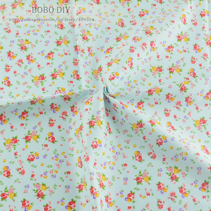 Buy 1 meter shabby chic roses printed 100 for Children s cotton dress fabric