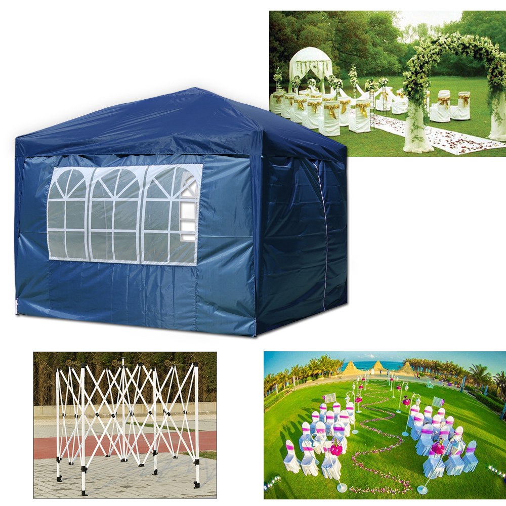 Waterproof Outdoor Garden Gazebo 3x3m 3x4m Party Tent Marquee Canopy with Sides