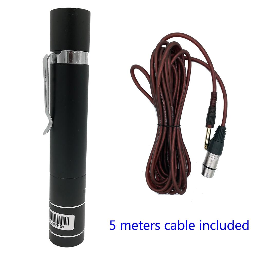 S50 adaptador de alimentação para microfone saxofone g9 s163, clipe no microfone fonte alimentação preamp conversor para xlr com 5 metros 6.5mm cabo