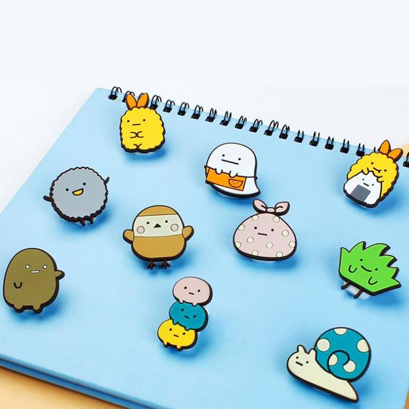 1 Pcs Kawaii Mini Anime Sumikko Gurashi Corner Creature PVC Food Sealing Clip Memo Paper Clips Crafts Stationery Supply