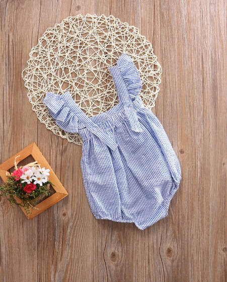 9fea5a09ffdee Newborn Kids Baby Girl Infant bow-knot Lotus collar Romper Sleeveless  Jumpsuit Clothes Sunsuit Outfit Clothing