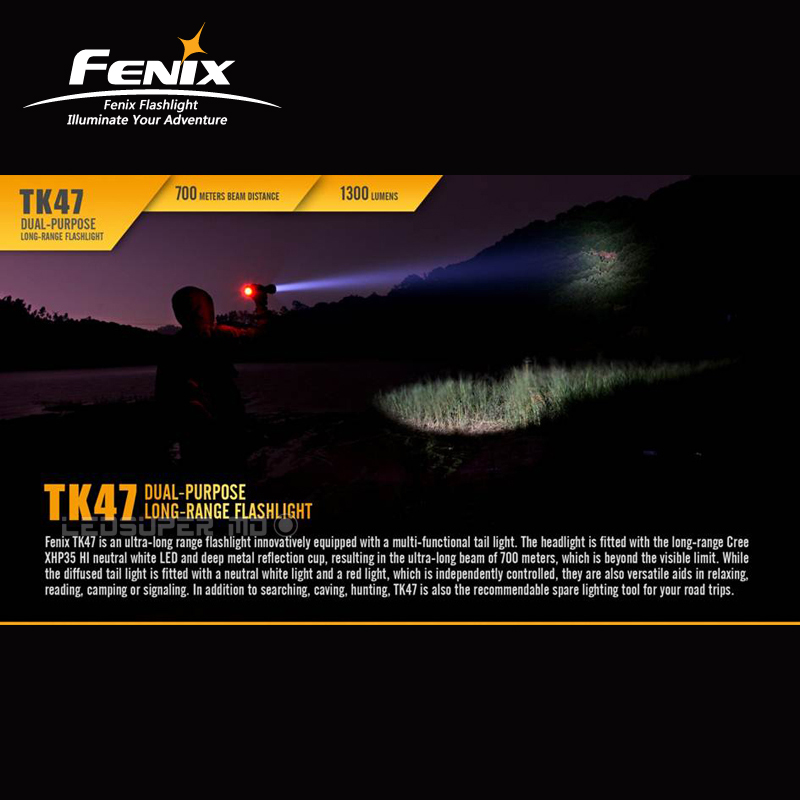 Nuovo Arrivo Fenix TK47 CREE XHP35 HI Neutral White LED 1300 Lumen a 700 Metri di Distanza Del Fascio Lungo Raggio Della Torcia Elettrica - 3