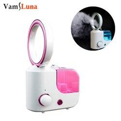 2 w 1 elektryczny bezłopatkowy wentylator nawilżacz powietrza nawilżacz generujący chłodną mgiełkę dyfuzor — oczyszczacz powietrza z wentylatorem|Nawilżacze powietrza|   -