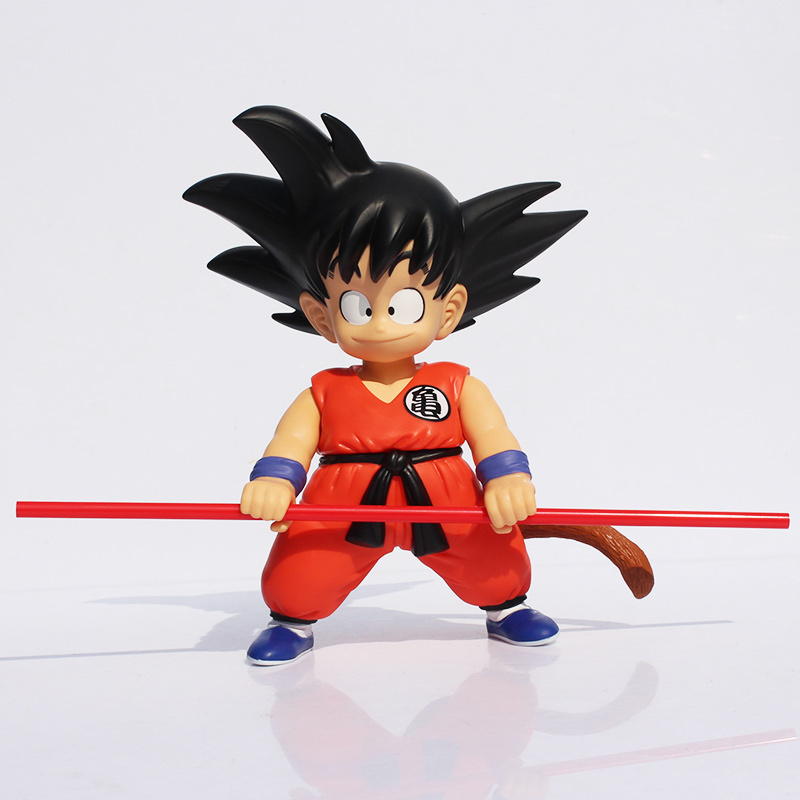 Large 21cm Dragon Ball Son Goku PVC Action Figure Model Toys with Box Free Shipping anime dragon ball super saiyan 3 son gokou pvc action figure collectible model toy 18cm kt2841