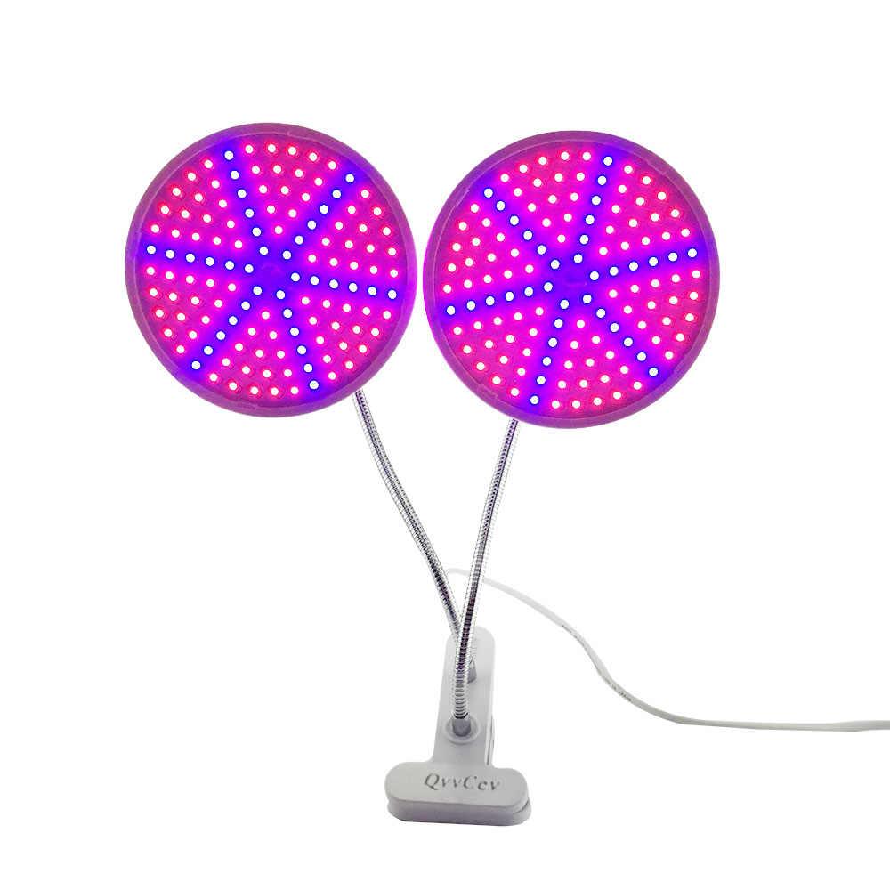 Double tête 126 Led plante grandir ampoule lampe ensemble d'éclairage kit bureau clip de fixation pour fleur intérieur graines serre hydroponique