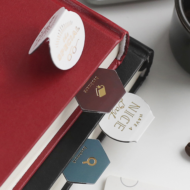 3pcs/set Magnet Bookmark Clips Cute Retro Foil Coffee Morandi Cartoon Book Markers For Office School Escolar Papelaria Gift
