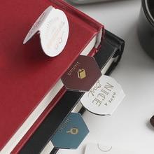 3pcs/set Magnet Bookmark Clips Cute Retro Foil Coffee Morandi Cartoon Book Markers for Office School Escolar Papelaria Gift