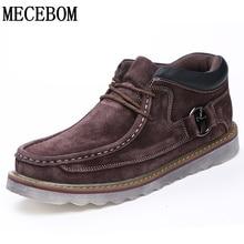 Для мужчин; зимние ботинки для отдыха теплые ботильоны для мужчин на шнуровке мужская повседневная обувь качество Botas Мокасины размер 38-45 2888 м