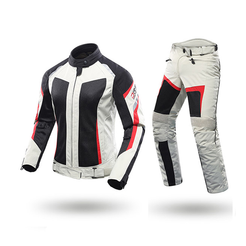 DUHAN Female Motorcycle Jackets Lady Pants Clothes Motorbike Jacket Trousers Suits With CE Protective gear racing