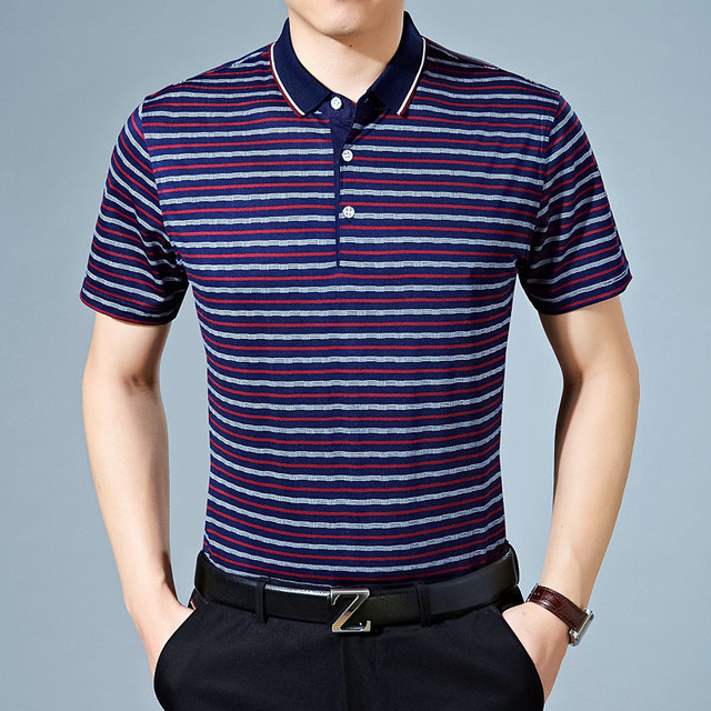 2017 Summer Striped Polo Shirt Cotton Men's Short Sleeve Slim Fitness Polos Male Business & Casual Tee Shirts Poloshirts