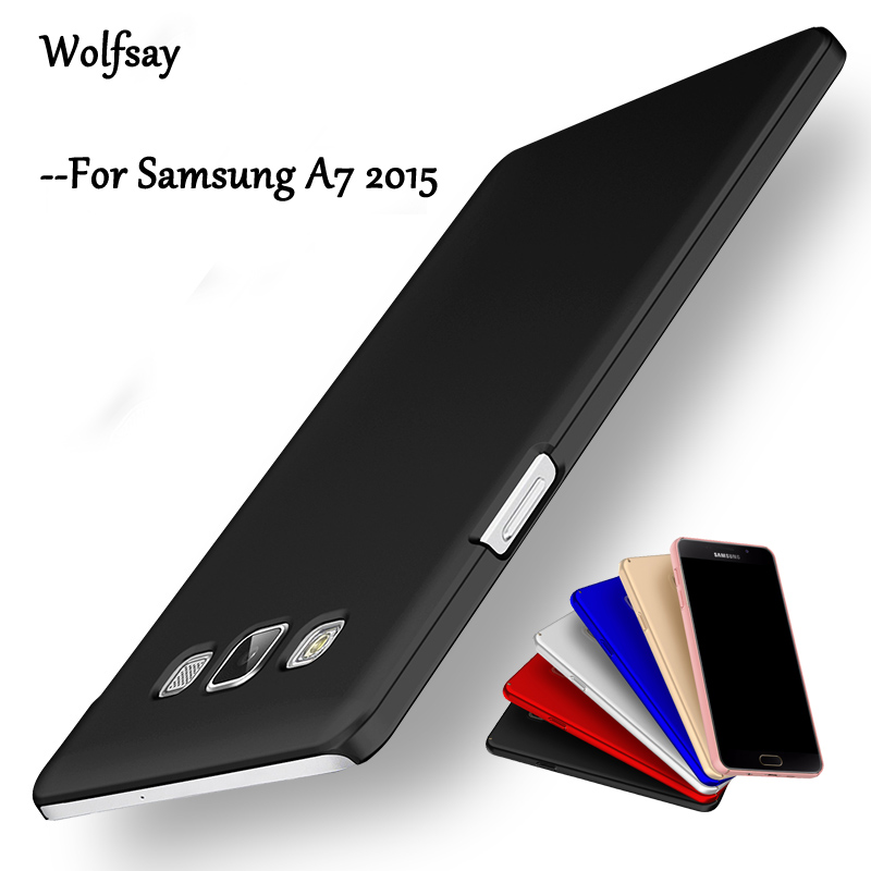 Wolfsay For Cover Samsung Galaxy A7 2015 <font><b>Case</b></font> Ultra Thin Smooth PC <font><b>Case</b></font> For Samsung Galaxy A7 2015 <font><b>Case</b></font> For Samsung A7 2015 <font><b>A700</b></font> image