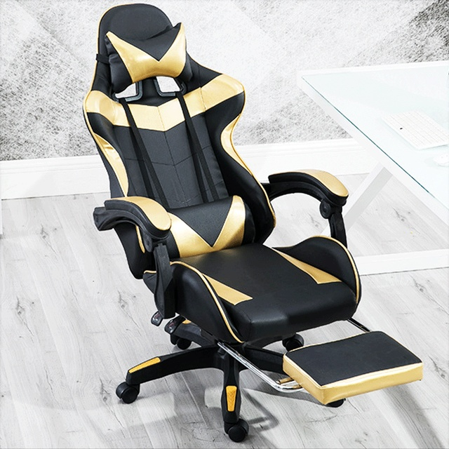 Reclining Gaming Chair Can You Paint A Faux Leather Computer Swivel Adjustable Height High Back Office Desk