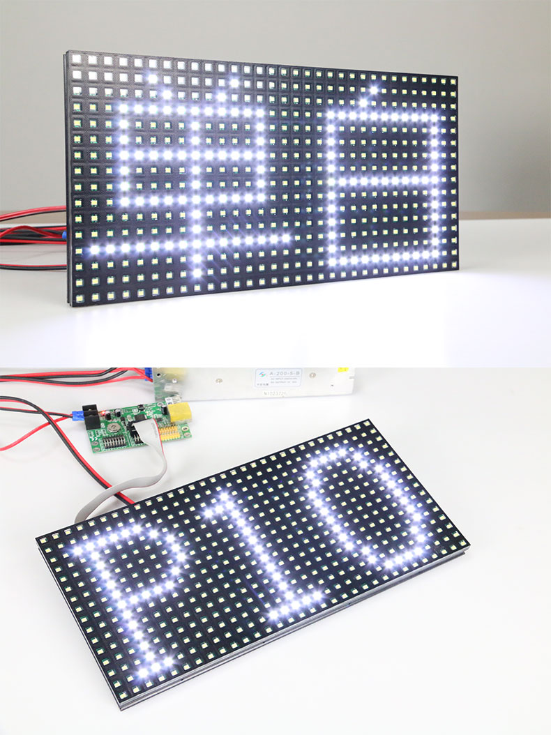free shipping DIY LED moving sign 20pcs NEW P10 SMD outdoor white color LED module 1