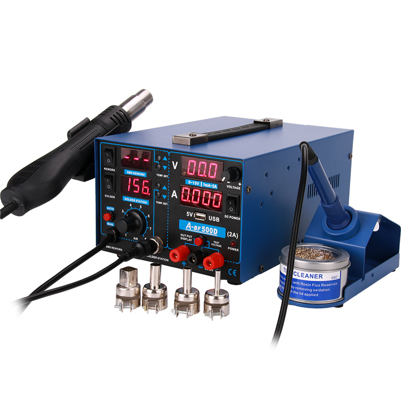 Supply A Station IN SMD Iron Station 1 Hot 3 Mobile Upgrade Digital Repair Air Soldering Power PCB Soldering BF Rework Welding