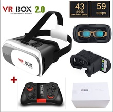 """เดิมG Oogleกระดาษแข็งVR BOX II 2.0 VRความจริงเสมือนแว่นตา3Dสำหรับ4 """"-6″มาร์ทโฟน+ MOCUTEเกมบลูทูธGamepad"""