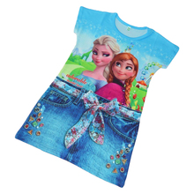 Girl's Summer Froze Dress Elsa Dress  Girl Clothes Girl's Summer Dress Kids Clothes All For Children's Clothing Summer S