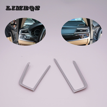 For BMW 5 series F10 F11 F18 LHD 2 Pcs ABS Chrome Dashboard Front Side Air Conditioner Vent Outlet Cover Trim new accessories for bmw 5 series f10 f18 520i 2011 2014 air vent outlet cover trim 13 pcs set