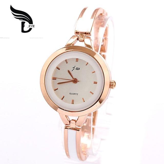 Xiniu Watch Women Casual Luxury Brand Bracelet Watch White Rose Golden Women Dre