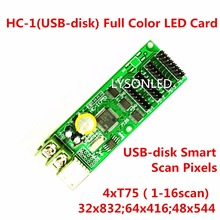 Async usb-disk HC-1 full color LED Display controller,192 x128, 384×64 Support, 4 xhub75 design for small RGB led display
