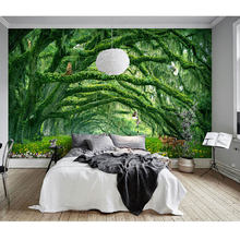 Children's Room Wall Papers Big Tree Landscape Photo Wall Paper Mural 3D Living Room Bedroom Self Adhesive Vinyl/Silk Wallpaper(China)