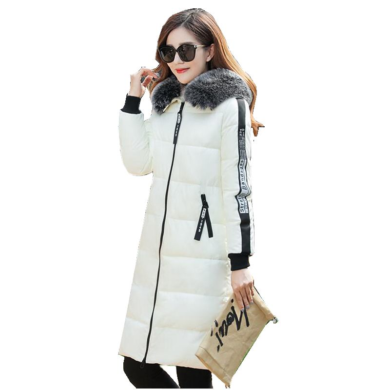 New Winter Fashion Women Parkas Hooded Thicken Super warm Medium long Coat Long sleeve Slim Big yards Cotton-padded jacket NZ390 2017 new winter fashion women parkas hooded thick super warm medium long coat casual slim big yards cotton padded jacket nz308
