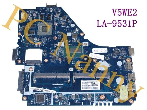 V5WE2 LA-9531P for acer aspire E1-572G Laptop MOTHERBOARD i5-4200U HM87 GMA HD5000 DDR3L -- tested