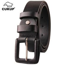 CUKUP Mens Unique Designer Retro Needle Buckles Men Cow Skin Leather Anti Allergy Belts Male Casual Styles Jeans Belt Man NCK185