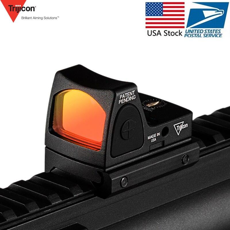 Mini RMR Vista de punto rojo colimador Glock/Rifle reflejo vista alcance 20mm carril Weaver Voor Airsoft/ rifle de caza/pistola