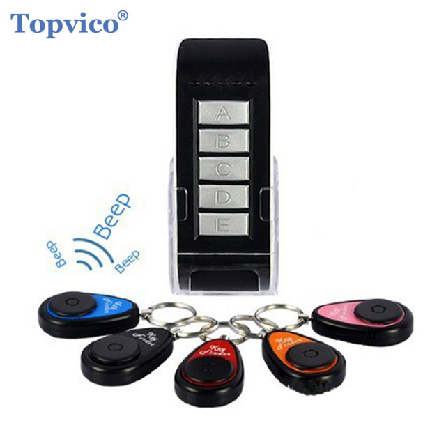 Topvico Smart Finder Tag Tracker 1 Remote Controller 5 Receivers Long Distance Wireless Key Cellphone Kids Wallet Finder Alarm
