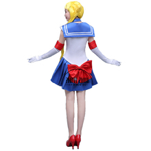 Custom Made Cartoon Movie Sailor Moon Costume Sexy Women's Costume Cosplay For Girl Halloween Party Dress Free Shipping