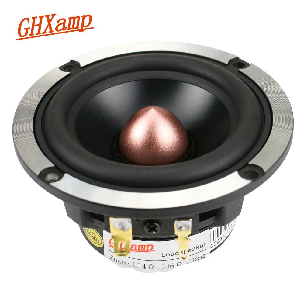 GHXAMP 3 Inch Midrange Speakers 8ohm 30W Neodymium 92DB Mediant Loudspeaker For Car Audio Upgrade 3 way speakers 1PC