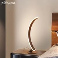 Mavesan Modern Art led Table Lamps EU/US plug bedside Bedroom LED Desk Lamp Living room deco birthday table lighting
