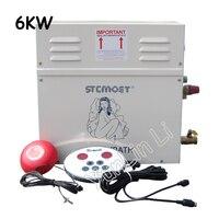 6KW парогенератор бытовой паром сауна 220 В в Паровая Ванна машина для Релакс спа комната цифровой контроллер ST 60