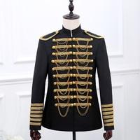 S 2XL 2017 Men S Clothing Dj Black Gold Fashion Royal Costume Male Formal