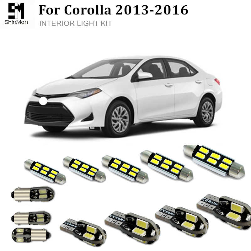 Toyota Corolla Accessories >> Detail Feedback Questions About Shinman 6pcs Error Free Led Interior