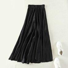 Европейская и американская женская одежда большие юбки эластичная талия широкие брюки ноги смешанные Лучши