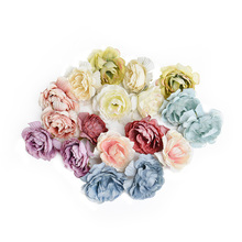 20 pieces 5cm artificial flower silk rose flower head wedding party home decoration DIY Scrapbooking Wreath Fake Flowers