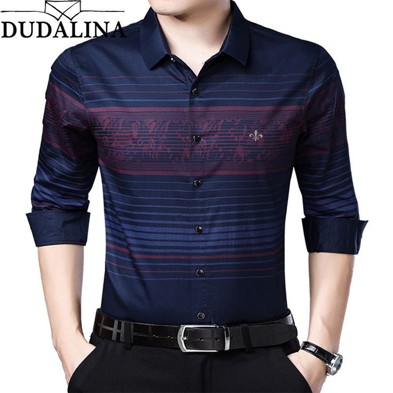 DUDALINA Me Shirt 2020 Camisa Casual Long Sleeve Shirt Men Soft Slim Fit Brand Men Clothes Shirt