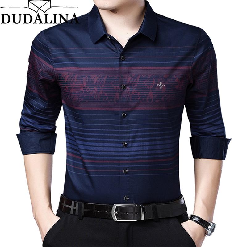 DUDALINA Me Shirt 2020 Camisa Casual Long Sleeve Shirt Men Soft Slim Fit Brand Men Clothes Shirt