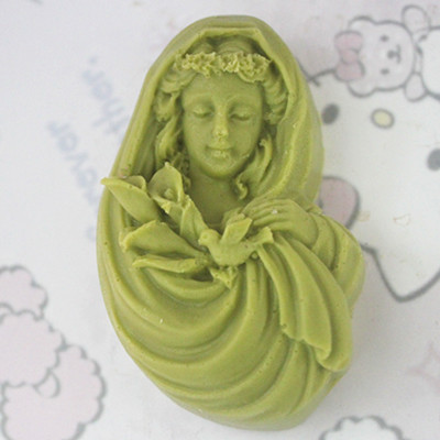 silicone soap mold Fairy Pattern Salt Carving Mould DIY Resin Craft Molding tool Handmade Clay soap molds in Soap Molds from Home Garden