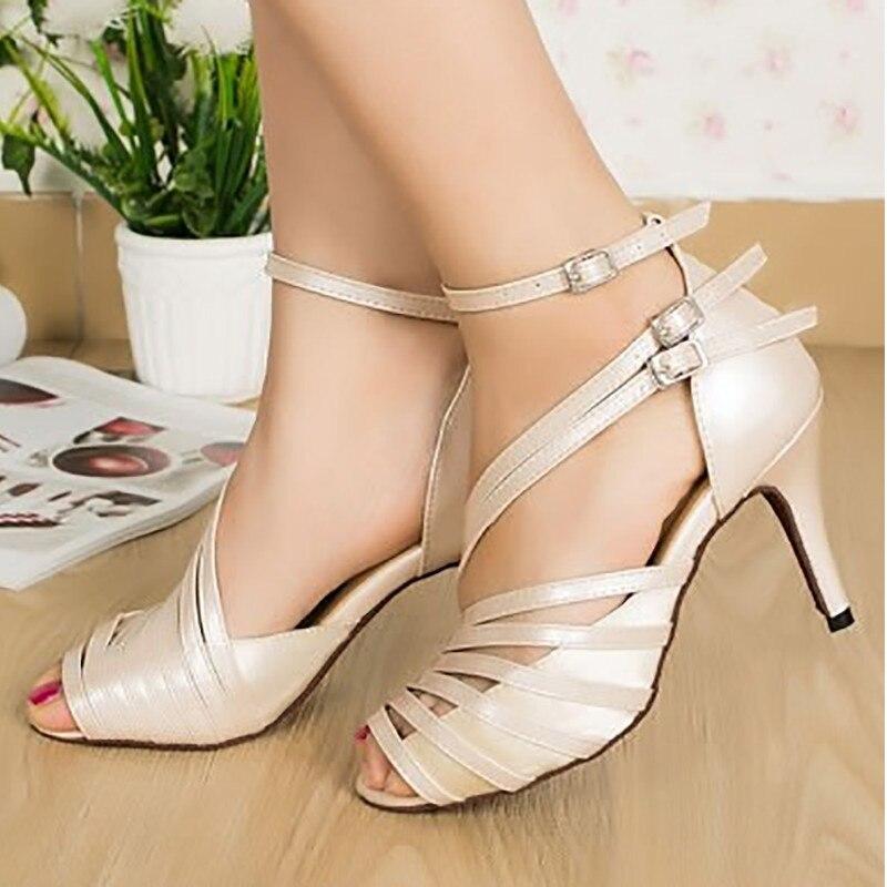 CSM02 chaussures de danse latine salle de bal sandales femme semelle souple Kizomba Samba Salsa danse Tango chaussures talons hauts 6/7. 5/8. 5 cm femmes