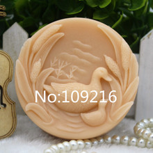 New Product!!1pcs Parent-child  Goose (zx276) Food Grade Silicone Handmade Soap Mold Crafts DIY Mould