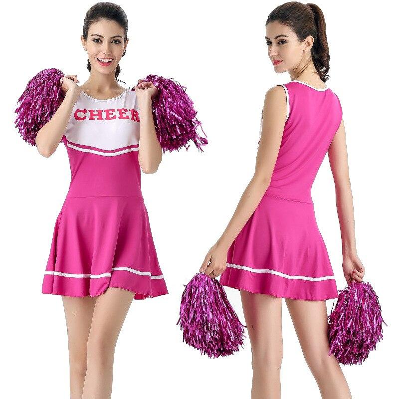 2017 New Sexy High School Cheerleader Costume Cheer Girls -7478