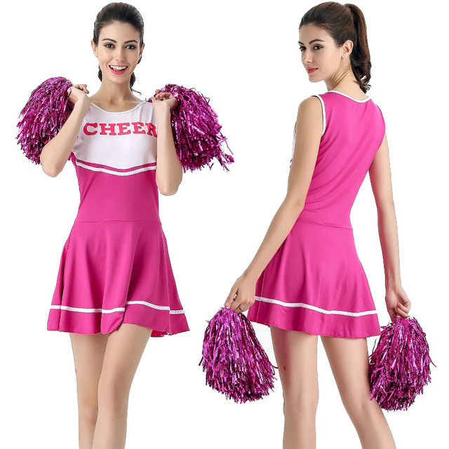 2018 New Sexy High School Cheerleader Costume Cheer Girls Cheerleading  Uniform Party Outfit 3578f4b51