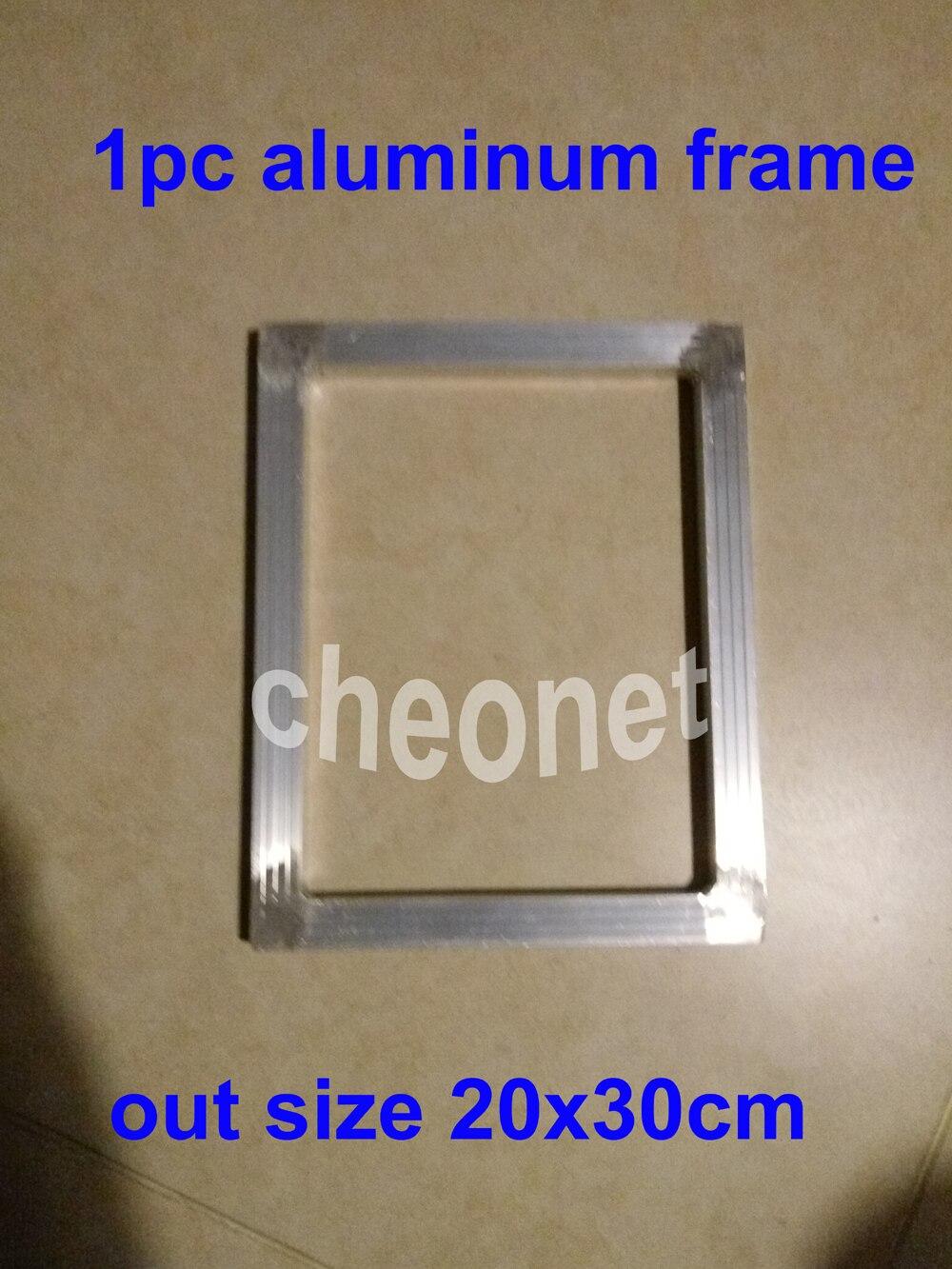 Barato 1 unid tamaño exterior 20x30 cm serigrafía marco de aluminio ...