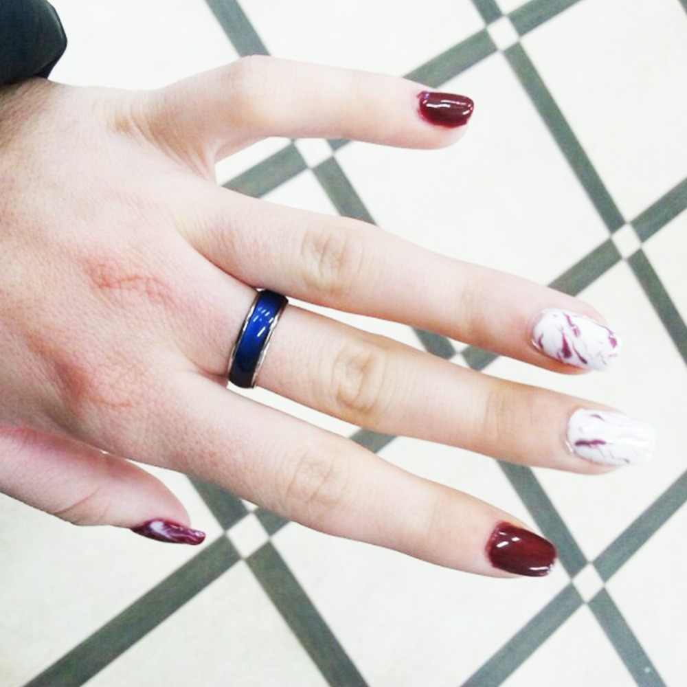 Fine Jewelry ekskluzywny pierścionek zmienia kolor Emotion uczucie ekskluzywny pierścionek zmienny pierścień temperatury zespołu #280844